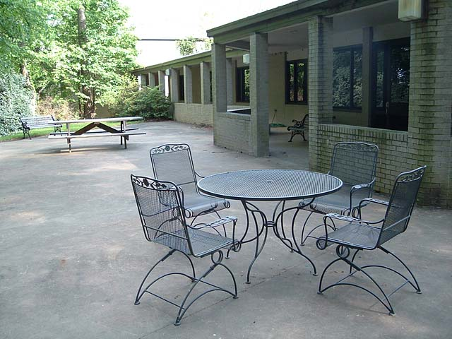 Patio viewed from north side